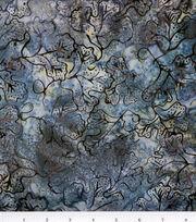 "Legacy Studio Batik Cotton Fabric 44""-Grape Leaf on Steel, , hi-res"