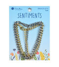 Blue Moon Beads Sentiments 2 pk Curb Chain Bracelets