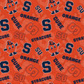 Syrcuse University Orange Cotton Fabric-Tone on Tone