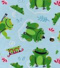 Snuggle Flannel Fabric -Frisky Frog