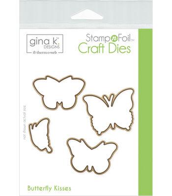Gina K Designs StampnFoil 4 pk Craft Dies-Butterfly Kisses