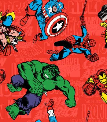 "Marvel Comics™ Flannel Fabric 42""-Retro Comic"