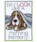 Design Works Crafts 5\u0027\u0027x7\u0027\u0027 Counted Cross Stitch Kit-Morning Dog