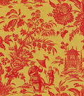 P/K Lifestyles Lightweight Decor Fabric 54\u0022-Asian Arcadia/Cinnabar