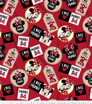 Disney Fleece Fabric 59''-Minnie Badges, , hi-res