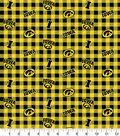 Iowa Hawkeyes Flannel Fabric-Check