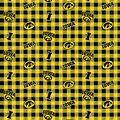 Iowa Hawkeyes Flannel Fabric-Checks