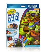 Crayola Color Wonder Teenage Mutant Ninja Turtles Metallic Coloring Pages&Markers, , hi-res