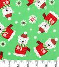Holiday Cotton Fabric -Polar Bears Pals
