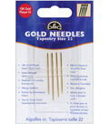 Gold Tapestry Hand Needles- Size 22 4/Pkg