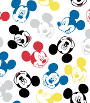 Disney Mickey Mouse Flannel Fabric-Heads, , hi-res