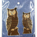 Fab Lab Wearables 2 pk Owl Iron-on Appliques