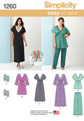 Simplicity Pattern 1260A Xxs-Xs-S-M-Sleepwear