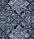 Snuggle Flannel Fabric -Stamp on Navy Ink