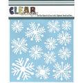 Clear Scraps 6\u0027\u0027x6\u0027\u0027 Plastic Stencil-Nordic Snowflakes