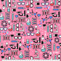 Snuggle Flannel Fabric-Science Lab Equipment