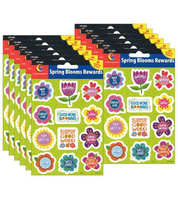 Creative Teaching Press Spring Blooms Reward Stickers 12 Packs