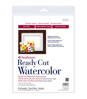 "Strathmore Watercolor Paper 11""X14""-140lb 6 Sheets Hot Pressed"