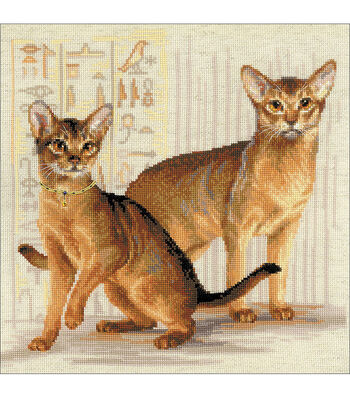 Pet Cat Counted Cross Stitch Kit-9.5X11.75 10 Count