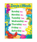 Days of the Week Sea Buddies Learning Chart 17\u0022x22\u0022 6pk