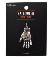 hildie & jo Halloween Jewelry 3D Two Part Casting Hand Pendant, , hi-res