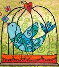 Dimensions 5\u0027\u0027x5\u0027\u0027 Mini Stitched in Thread Needlepoint Kit-Birdie
