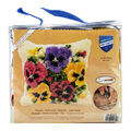 Vervaco Cushion Latch Hook Kit 16\u0027\u0027X16\u0027\u0027-Violets