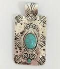 hildie & jo Rectangular Pendant-Turquoise