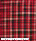 Flannel Shirting Fabric 42.9\u0022-Red Green Cream