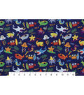 Snuggle Flannel Fabric 42\u0022-Under The Sea
