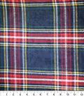 Sportswear Acrylic Fabric 52\u0022-Black, Red & Yellow Tartan Plaid