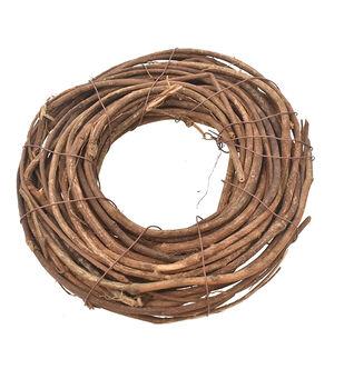 Handmade Holiday Christmas DIY Twig Mini Wreath-Brown