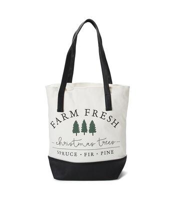 Canvas Tote Bag-Farm Fresh Trees
