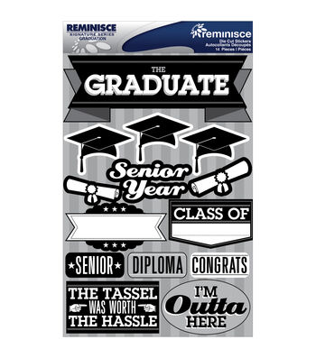 Reminisce Signature Dimensional Stickers Graduation