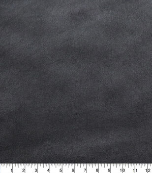 Faux Leather Fabric-Smooth Black