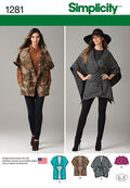 Simplicity Pattern 1281A Xs-S-M-L-X-Misses Jacket / Coat