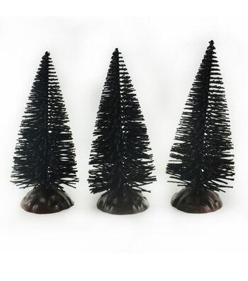 Maker's Halloween Littles 3 pk Trees-Black