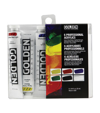 Golden 6 Piece Introductory Acrylics Paint Set