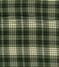 Fashion Flannel Shirting Fabric 41\u0022-Olive and Black