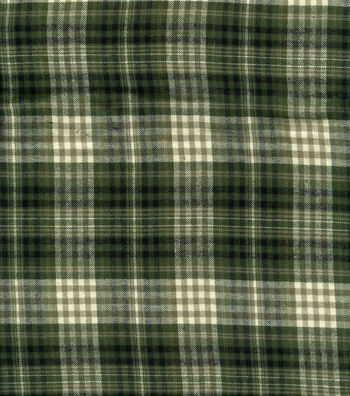 "Fashion Flannel Shirting Fabric 41""-Olive and Black"