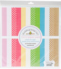 Doodlebug Petite Prints Double-Sided Cardstock 12\u0022X12\u0022-Cream & Sugar