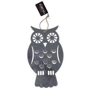 Maker's Halloween Craft 5.3''x9.2'' Metal Hanging Owl