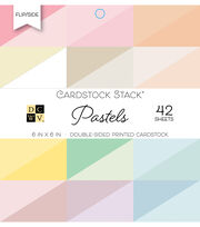 DCWV 42 Pack 6''x6'' Double-Sided Printed Cardstock Stack-Pastels, , hi-res