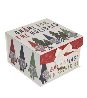 Maker's Holiday Christmas Large Mini Fliptop Storage Box-Gnome