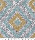 Robert Allen @ Home Print Swatch 55\u0022-Ethnic Diamond Dew
