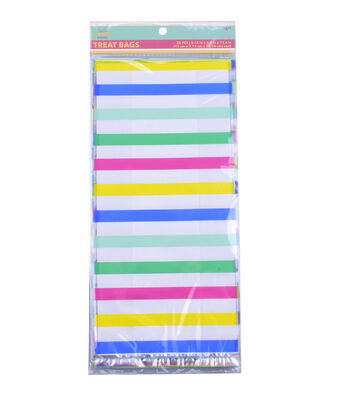 Hello Summer Baking 20 pk Cellophane Treat Bags-Stripes