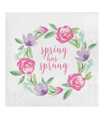 Easter Decor 20 pk Lunch Napkins-Spring Has Sprung