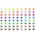 KINGART Pencil Set In Tin Case 72pk-Assorted Colors