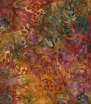 "Legacy Studio Batik Cotton Fabric 43""-Rainbow Butterfly"
