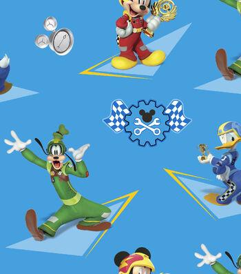 Disney® Mickey Mouse Cotton Fabric-Mickey & Friends Racing Stars